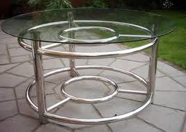 modern steel furniture. polished stainless steel marinastyle toughened glass topped table retro modern design furniture w