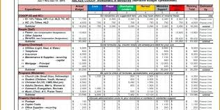 Samples Of Budget Spreadsheets Household Budget Template 9 Free Sample Example Format
