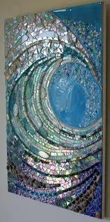 Mosaic Design Ideas Big Wave Mosaic Design Ideas Mosaic Glass Mosaic Art Mosaic
