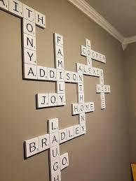 family scrabble wall decor ideas letter