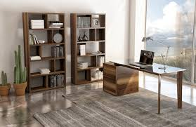 walnut office furniture. SWAN Office Furniture By Huppé, Natural Walnut