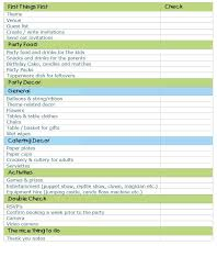 Packing Travel Checklist Template A Birthday Party Planning Yes No ...