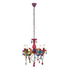 dar souk 5 light chandelier multi colour