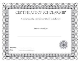 scholarship award certificate templates certificate of scholarship 3 the best template collection