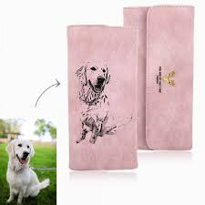 women s photo engraved trifold photo wallet women leather wallet
