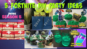 5 Diy Fortnite Party Ideas I Diy I How To Cook Craft Cake It Youtube