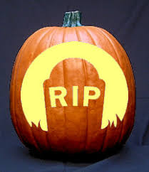 RIP Grave Pumpkin Carving Pattern