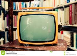 Living Room Tv Set Retro Tv Set In Vintage Setting Old Living Room Stock Photo