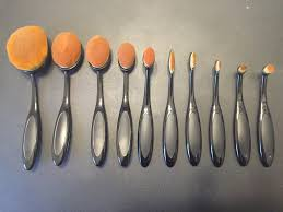 anastasia brush kit. 10 piece oval makeup brush set review: anastasia kit