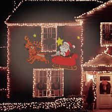 Christmas Animated Laser Light Animated Santa And Sleigh Projector