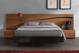 acrylic bedroom furniture. Black Floating Acrylic Bed Frame With Brown Wooden Headboard And Bedside Tables Bedroom Furniture R