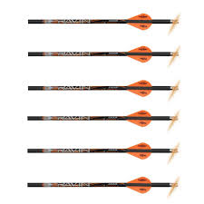 Ravin Crossbows R133 0 003 400 Grain Lighted Arrows 6 Pack Black Red Carbon Highly Accurate And Stable