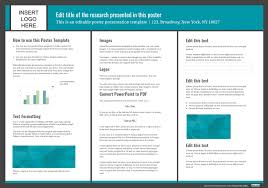 Powerpoint Template Research Free Poster Powerpoint Template 40x28 Inches Poster