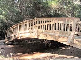 30ft wooden arch bridge