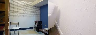 painting tape brick wall