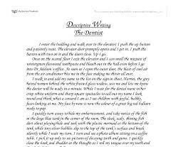descriptive essay dentist office a to the dentist how to compose a descriptive essay