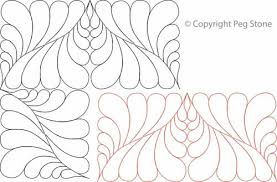 Diamond Feather Border and Corner | Digital Quilting Designs & Digital Quilting Design Diamond Feather Border and Corner by Peg Stone. Adamdwight.com
