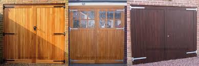 side hinged wooden garage doors