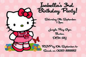 Hello Kitty Party Invitation Details About Personalised Hello Kitty Birthday Party Invitations Inc Envelopes Hk1