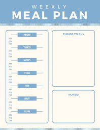 personal diet planner customize 343 meal planner menu templates online canva