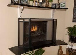 tempered glass fireplace screen custom modern tempered