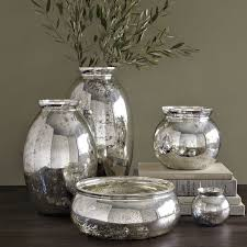 marvelous elegant silve colored mercury glass vase large and miniature version can be obtained bulk whole