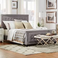 Bellevista Square Button-tufted Upholstered King-Size Bed with Footboard by  iNSPIRE Q Bold - Free Shipping Today - Overstock.com - 16580938
