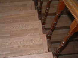 Laminate Flooring On Stairs. Front And Side Bull Nose.