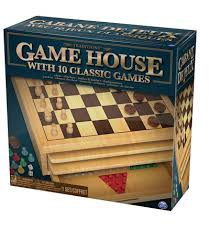 Wooden Board Games Canada Traditions Wood Game House With 100 Games Walmart Canada 7