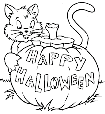 Small Picture halloween cat coloring pages 17 best images about halloween