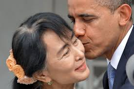 aung san suu kyi colluding tyranny caravan daily us president barack obama kisses suu kyi during their meeting on the sidelines of the apec