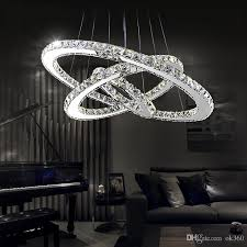 modern led crystal chandeliers pendant lights ceiling hanging lighting fixtures with ac110 240v led smd round ring diamond ce fcc rohs glass ball chandelier