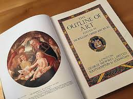 rare antique old book the outline of art colour plates sir william orpen