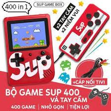 Máy chơi game cầm tay; Máy chơi game 4 nút 400 trò chơi - kèm cáp kết nối  cho TV