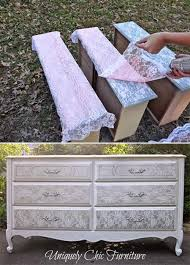 furniture spray paintDIY Lace Painted Furniture