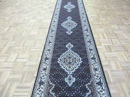 7x14 rug handmade fine black wool and silk