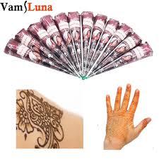 12X Natural Henna Tattoo Ink India Mehendi Ink For Body Art ...