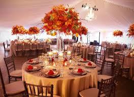 Fall Themed Wedding Reception Decorations