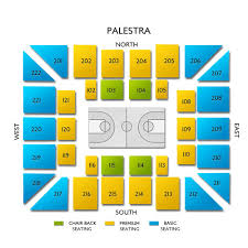 The Palestra Seating Chart Owls Vs Quakers Sat Jan 25 2020