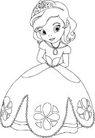 Coloriage De Princesse Sofia Imprimer Sur Coloriage De Com
