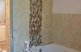 tiling tub surround our wolf den bathroom tile medium size around drop paint grout diy installation