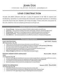 Construction Worker Resume | Free Resume Templates