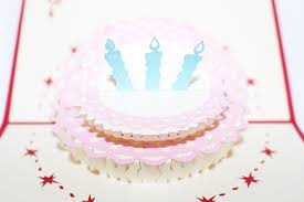 3d Birthday Cake Greeting Card Gas0026