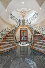 Beauteous Brooklyns Most Expensive House Inside With Entries And Stairs  Interior Design Halls Foyers Dark Gray Glossy Tile C