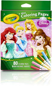 Give your child countless hours of. Amazon Com Crayola Crayola Mini Coloring Pages Disney Princess Toy Toys Games