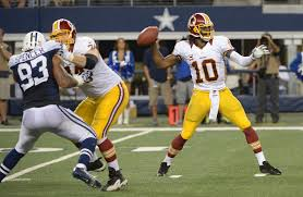 Robert Griffin and the Redskins against the Cowboys