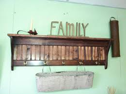 Simple Wood Coat Rack Wooden Coat Rack Wall Mounted Shelf 84