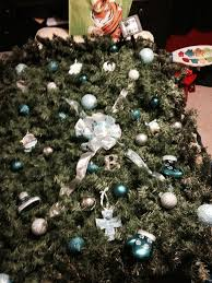 Cemetery Christmas Tree With Lights Baby Grave Blanket Decorated With Ornaments Picked By