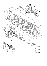 1996 yamaha yz250 yz250h1 clutch parts best oem clutch parts diagram for 1996 yz250 yz250h1 motorcycles