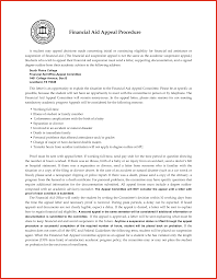 Elegant Appeal Letter For Financial Aid Example Resume For A Job